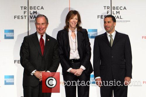 Mayor Michael Bloomberg, Jane Rosenthal and Governor David...