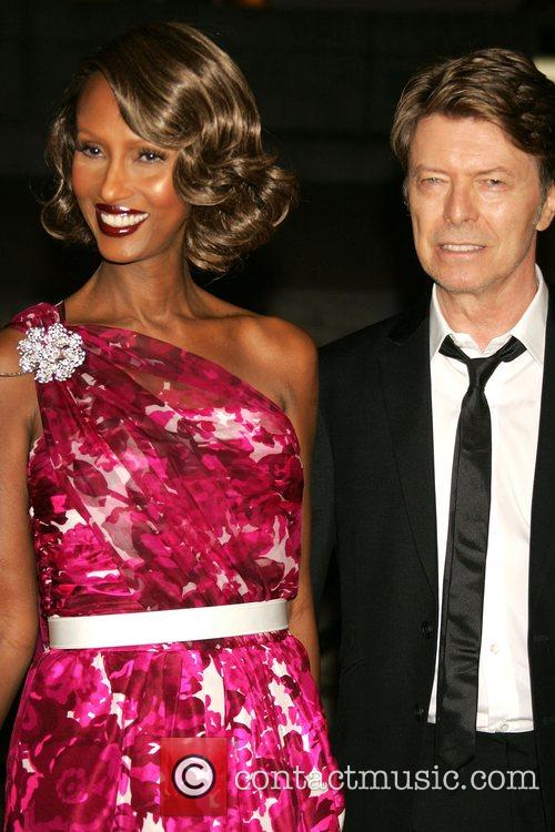 Iman and David Bowie 2008 Tribeca Film Festival...