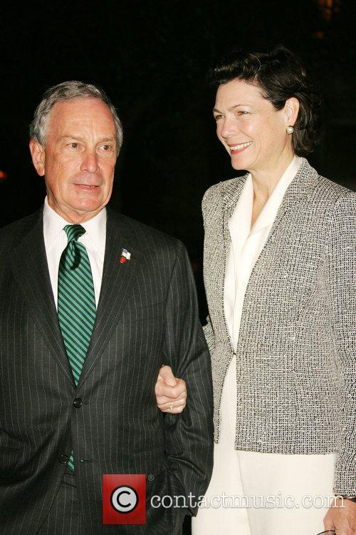 New York Mayor Michael Bloomberg and Diana Taylor...
