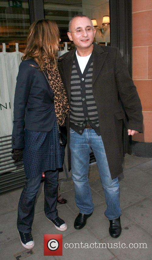Trinny Woodall and Johnny Elichaoff at Cipriani restaurant...