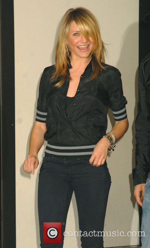 Cameron Diaz  leaves TRL studios New York...