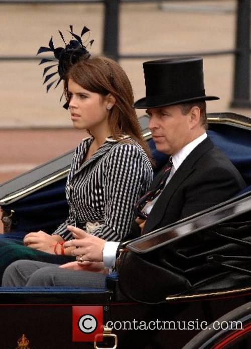 Prince Andrew, Duke of York and his daughter,...