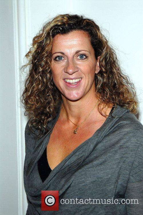 Sally Gunnell TU at Sainsbury's Fashion Show at...