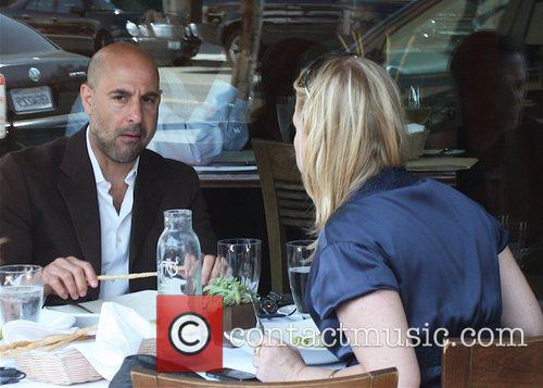 Stanley Tucci having lunch in Beverly Hills with...