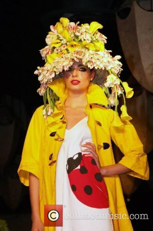 6th Annual over-the-top floral headdress fashion show, Tulips...