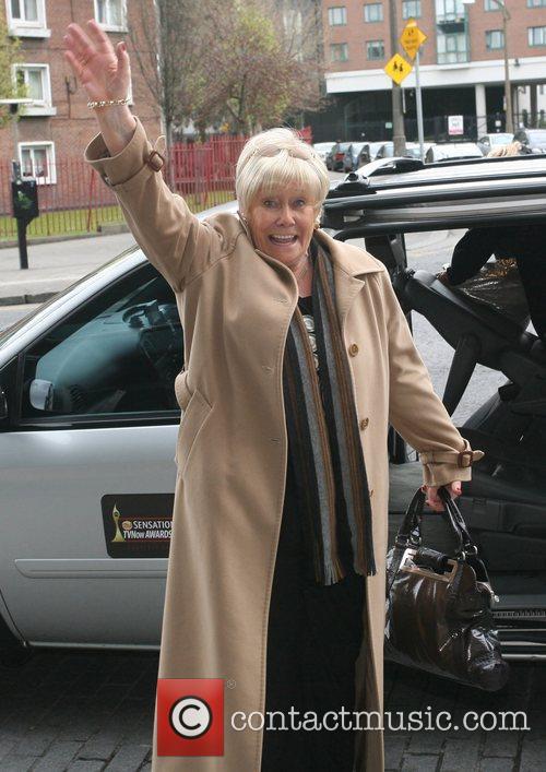 Liz Dawn British soap stars arrive at their...