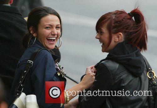 Michelle Keegan British soap stars arrive at their...