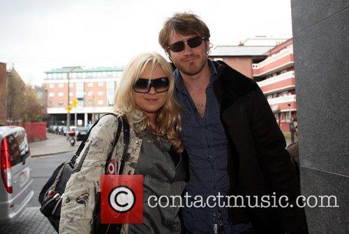 Rita Simons and Robert Kazinsky British soap stars...