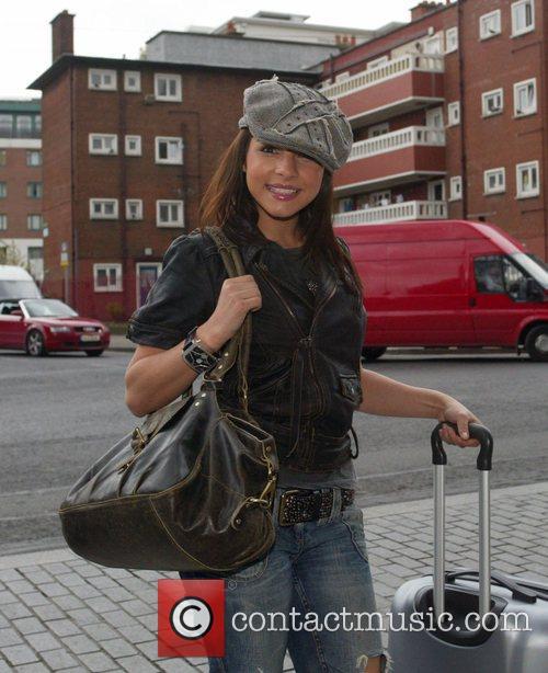 Roxanne Pallette British soap stars arrive at their...