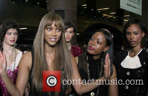 Tyra Banks and Tracy Reese Mercedes-Benz Fashion Week...