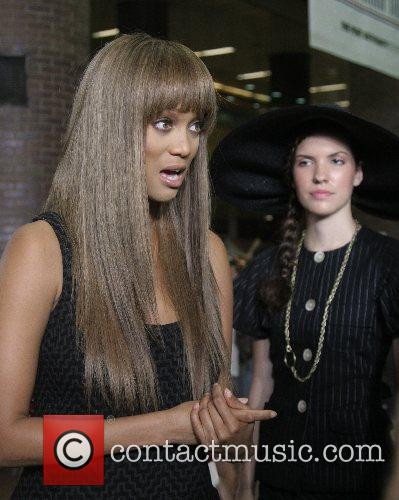 Tyra Banks Mercedes-Benz Fashion Week New York Spring...