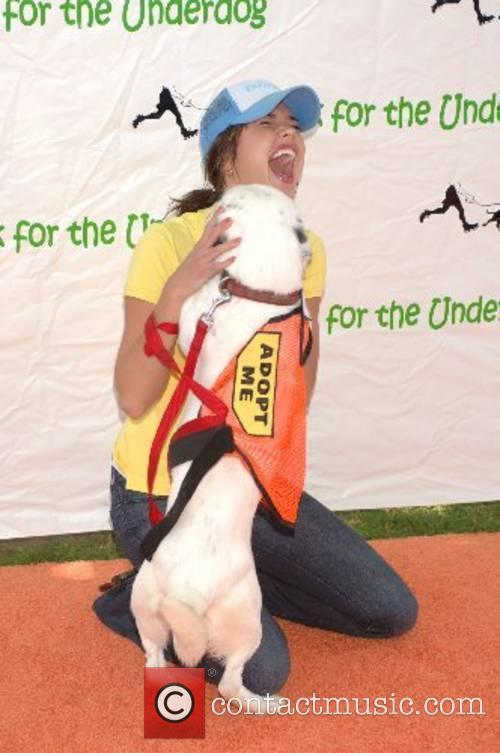 Arielle Kebble Walk for the Underdog charity supporting...