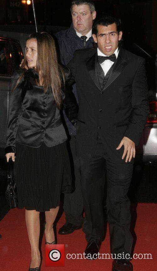 Carlos Tevez and guest UNICEF Gala dinner held...
