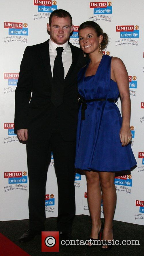 Wayne Rooney and Coleen McLoughlin UNICEF Gala dinner...