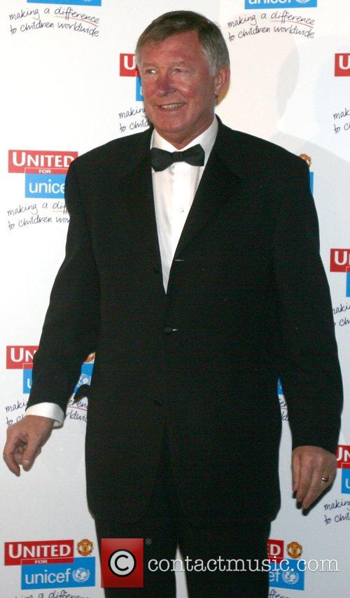 Alex Ferguson UNICEF Gala dinner held at Old...