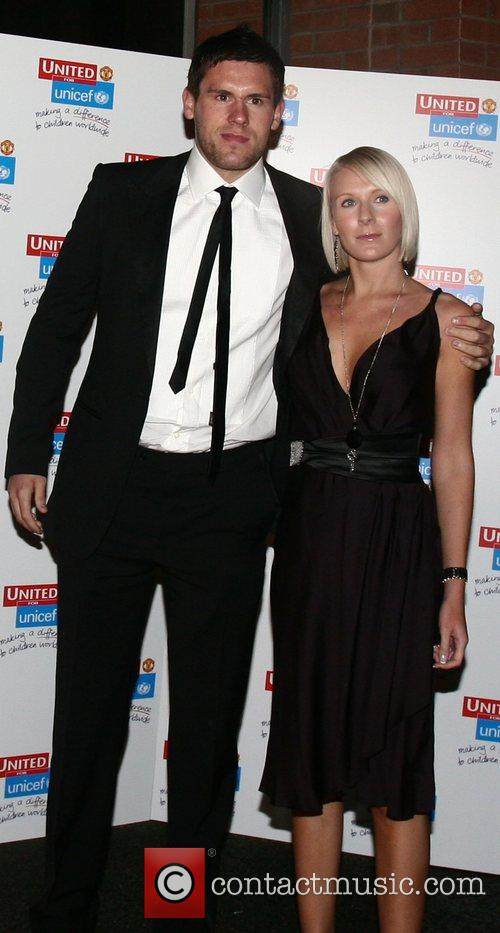 Ben Foster and guest UNICEF Gala dinner held...