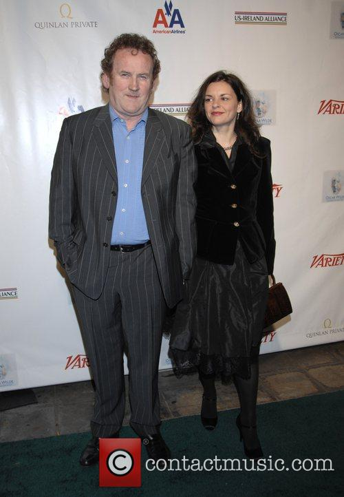 Colm Meaney and guest US-Ireland Alliance Pre-Academy Awards...