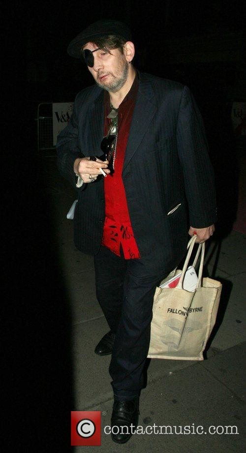 Shane McGowan leaving 'The Golden Age of Couture'...