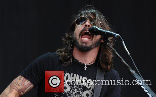 Dave Grohl performs with the Foo Fighters at...