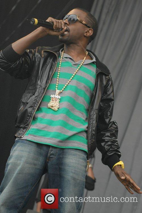Kanye West performs at V Festival at Hylands...