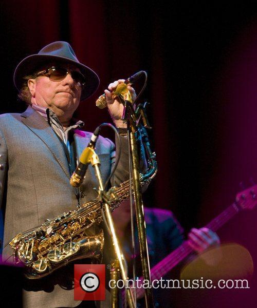Van Morrison performing at the Centaur, at Cheltenham...
