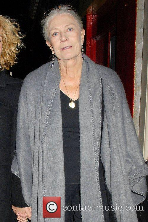 Vanessa Redgrave out walking in Soho