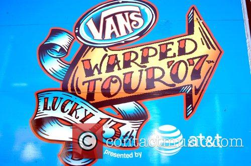 Atmosphere at the Vans Warped Tour at the...