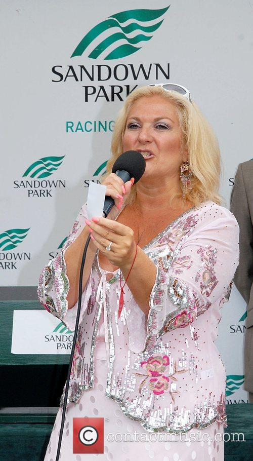 Vanessa Feltz Variety club day at Sandown race...