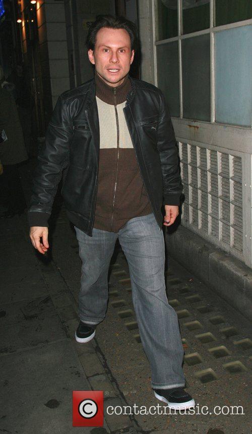 Christian Slater arriving at the Vaudeville Theatre London,...