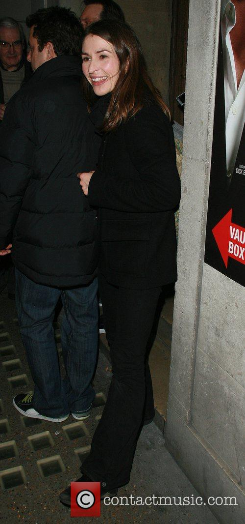 Helen Baxendale arriving at the Vaudeville Theatre