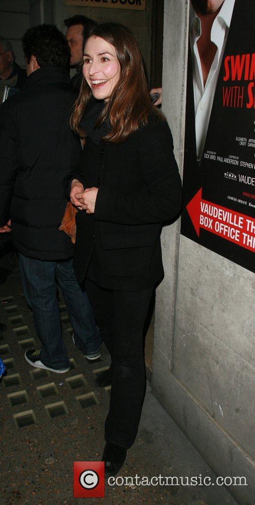 Helen Baxendale arriving at the Vaudeville Theatre London,...