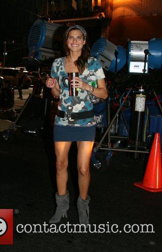 Lake Bell on the film set for 'What...