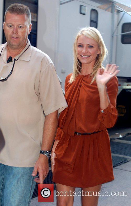 Cameron Diaz  on the film set of...