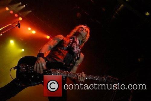 Duff McKagan Velvet Revolver performing at the Cardiff...