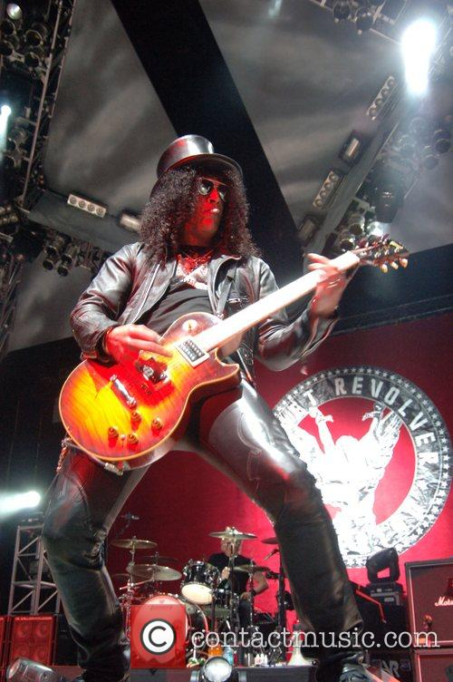 Slash from Velvet Revolver Performing live at the...