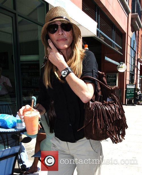 Actress Vera Farmiga leaving Caffe Del Arte with...