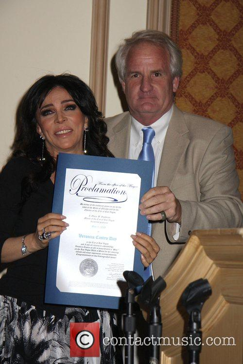 Actress and Singer Veronica Castro honored with a...