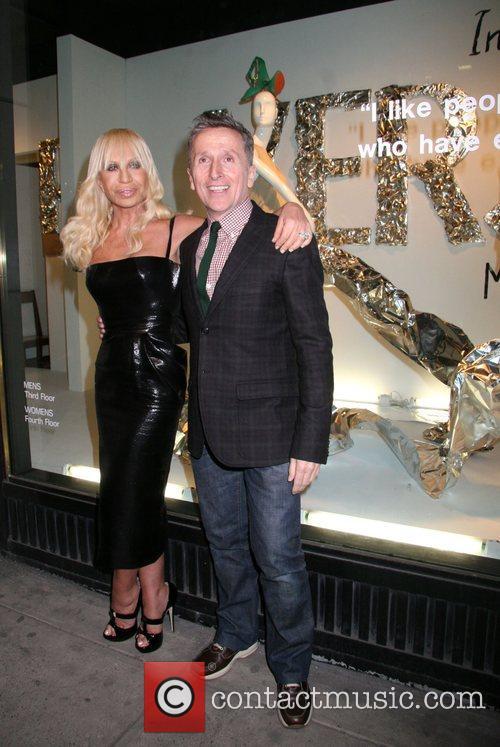 Donatella Versace and Simon DonanSimon Donan Versace Men's...