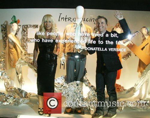 Donatella Versace and Simon Donan Versace Men's Line...