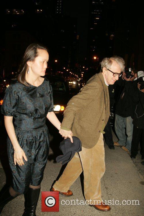 Woody Allen and Soon-Yi Previn Versace Men's Line...
