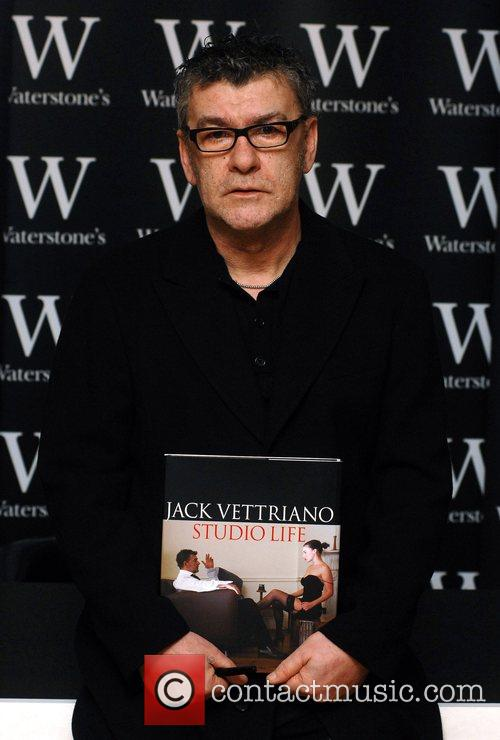 Signing his new book 'Studio Life' at Waterstones...