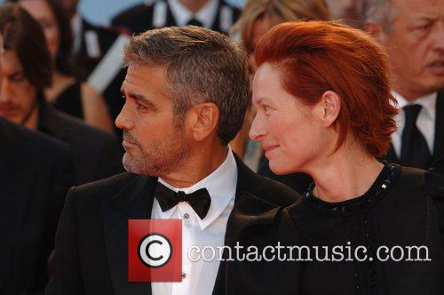 George Clooney and Tilda Swinton 9