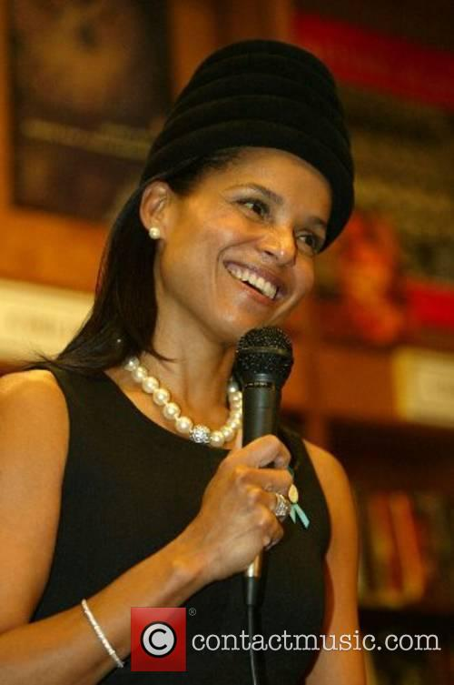 Victoria Rowell signing copies of 'The Woman Who...