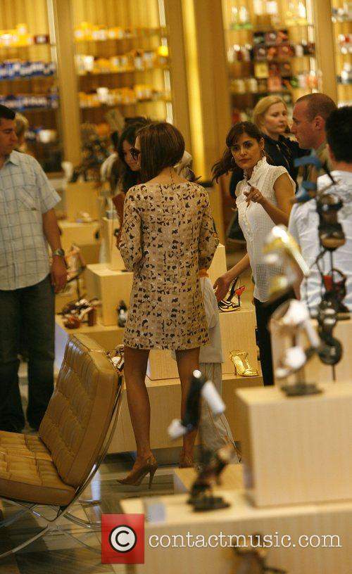 Victoria Beckham with son Romeo shopping at Barneys...