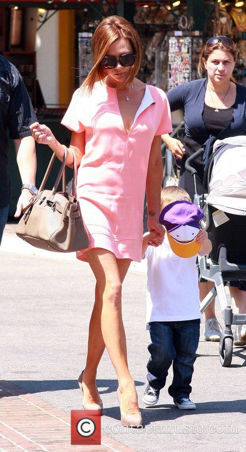 Vicoria Beckham at The Grove with her youngest...