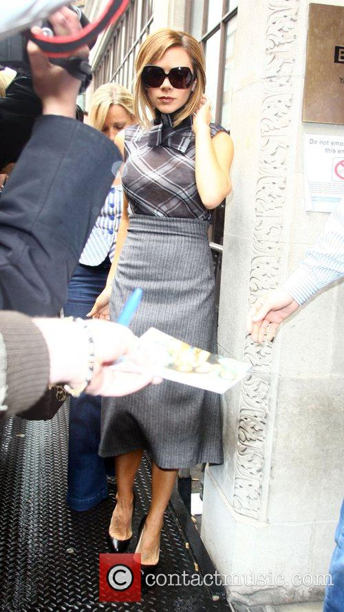 Victoria Beckham arriving at a BBC studio. London,...