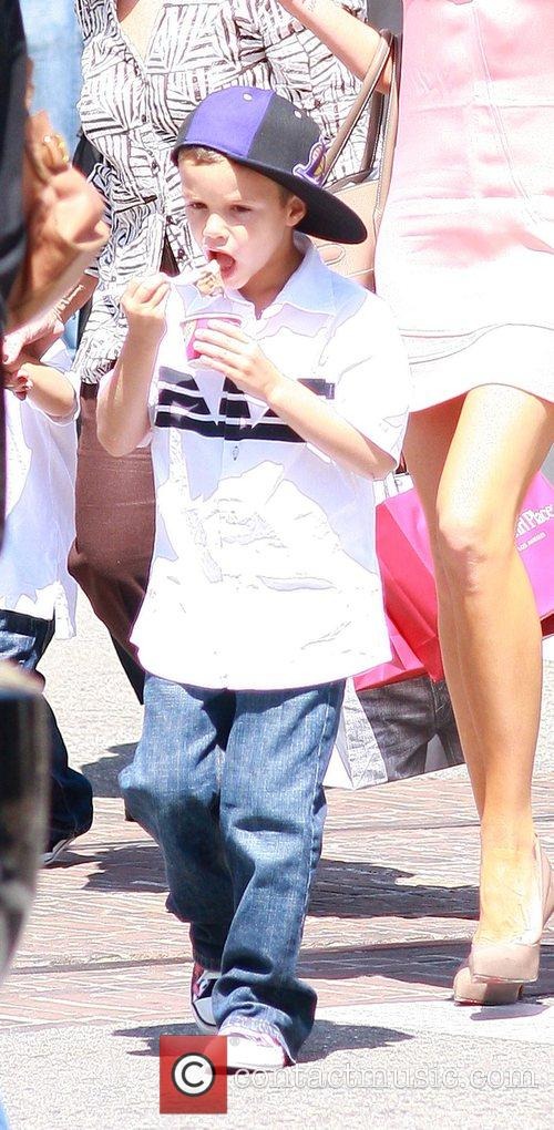 Romeo Beckham at The Grove West Hollywood, California