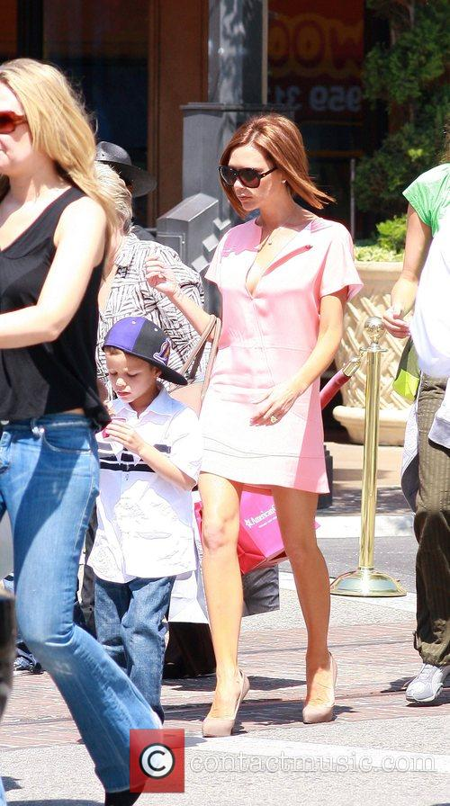 Victoria Beckham at The Grove with son Romeo...