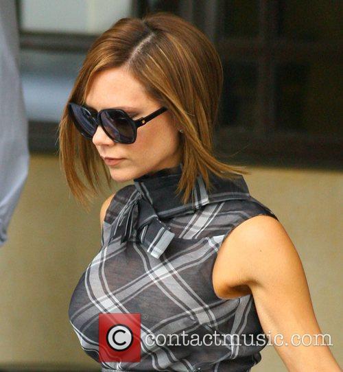 Victoria Beckham leaving the Dorchester Hotel to go...