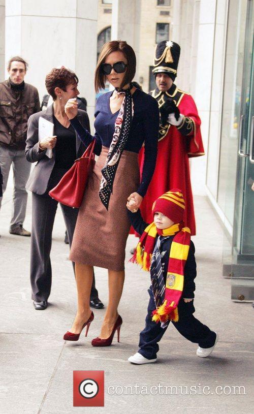 Victoria Beckham and son Cruz David Beckham enjoy...